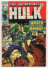 INCREDIBLE HULK #124 1969 VF HIGH GRADE - Hulk vs. the Rhino