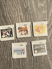 Nintendo 3DS Mario Game Bundle X5 - Mario Kart 7, Mario Sports, Super Mario 3d 2