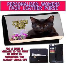 Porte-monnaie et portefeuilles noir chéquier pour femme