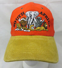 South Africa elephant lion baseball cap hat adjustable v
