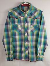 Roper Pearl Snap Button Up Womens Large Long Sleeve Western Shirt