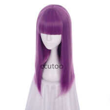 Descendants 2 Mal 60cm Purple Mix Straight Flat Bangs Synthetic Cosplay Wig