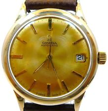 ORIGINAL VINTAGE 1966 OMEGA AUTOMATIC Q-DATE GOLD WATCH SERVICE 563 MODEL KL6312