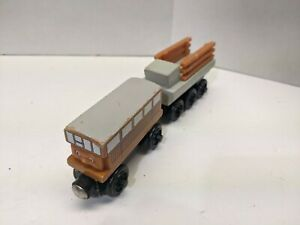 Thomas & Friends Wooden Railway Catherine & Trailer Train Engine Car GUC