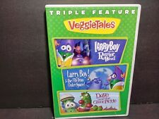 Veggietales Triple Feature Rumor Weed,Fib Outer Space,Dave Giant Pickle DVD B238
