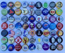 50 [[UNIQUE, ASSORTED}} Beer Bottle Caps, Great Value Fun Colors
