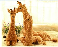 2017 Giant big giraffe soft toys plush simulaiton sitting giraffe doll Xmas 85cm