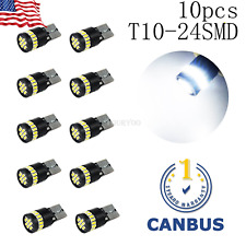 10x White Error Free T10 LED 24smd Interior Wedge Light Bulb W5W 194 168 2825