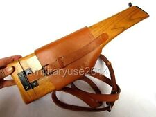 WWII WW2 German Mauser Broomhandle Leather Holster And Wood Stock - GM020