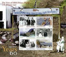 Tristan da Cunha 2017 MNH HRH Prince Philip Visit 6v M/S Art Royalty Stamps