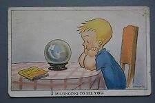 R&L Postcard: Comic, Valentine Nipper Series Brian White, Crystal Ball Gazing