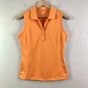 ADIDAS Women's S Golf Tennis Tank Top Sleeveless Clima Cool Orange