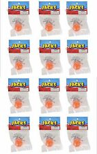 12 SETS OF STEEL METAL JACKS WITH RUBBER SUPER BALL, CLASSIC KIDS TOY FREE SHIP