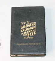 Vintage 1920s American Exchange Book Bank Milwaukee WI Antique Advertising Piggy