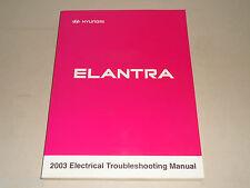 Manuale D'Officina Elettrica Schaltpläne Hyundai Elantra (Modello 2003)