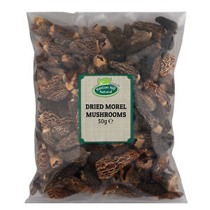 Dried Morel Mushrooms 50g - Free UK Delivery -