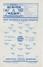WEST BROMWICH ALBION v SHEFFIELD UNITED RESERVES ~ 1 OCTOBER 1966