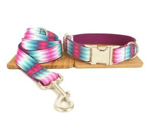 Dog Collar And Lead Set Pink Fusion Pet UK Seller DC5