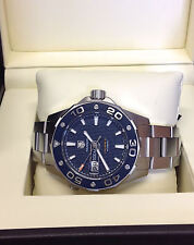 Tag Heuer Aquaracer WAJ2112 500M Auto - 43mm Blue Dial - Box & Paperwork - 2014