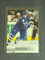 Sergei Berezin Maple Leafs 2000-01 Upper Deck #165 Exclusive 94/100 Jersey # 1/1