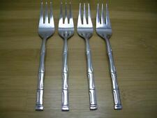 Stainless Korea Flatware EXOTIC BAMBOO Set of 4 Salad Forks