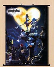 Japanese Anime poster Kingdom Hearts II Art Home Decor Wall Scroll 40*60cm