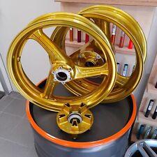 2 Motorradfelgen Gold Farbe Motorrad Felgen pulverbeschichten Pulverbeschichtung