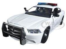 2011 DODGE CHARGER PURSUIT POLICE WHITE W/ LIGHTS & SOUND 1/24 MOTORMAX 79532