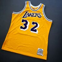 100% Authentic Magic Johnson Mitchell & Ness 84 85 Lakers Jersey Size 48 XL Mens