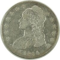 1834 50C CAPPED BUST SILVER HALF DOLLAR VG/FINE DETAILS (cleaned) (102520)