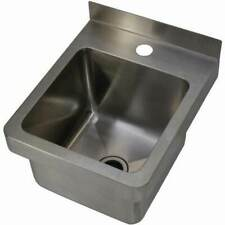 New Hand Wall Basin Sink Stainless Steel Trough Cafe Kitchen Tub Restaurant 12L