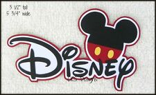 Die Cut DISNEY Title Vacation Mickey Mouse Scrapbook Paper Piecing CKS Designs