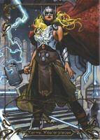 2018 Marvel Masterpieces Gold Foil Signature Series #68 Thor Tier 3
