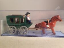 Wind up horse drawn cart toy western wagon by HANS windup cart toy boxed
