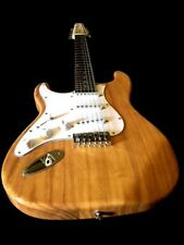 LEFT HANDED STRAT STYLE 12 STRING NATURAL ELECTRIC GUITAR GREAT PLAYER