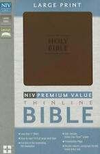 Niv Premium Value Thinline Bible, Large Print: By Zondervan