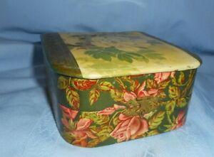 Antique Celluloid Dresser Box & Tortoise Shell Hair Pins