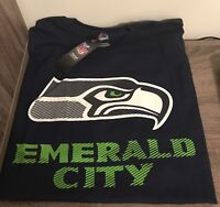 "Brand New Seattle Seahawks ""Emerald City"" NFL T-Shirt XL"