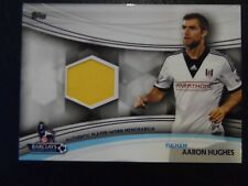 2013 Topps Premier League Gold Memorabilia Card 'Aaron Hughes' Fulham #JR-AH