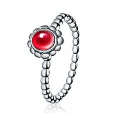 Authentic Solid 925 Sterling Silver Rings Luxury Gemstones Women's Jewelry