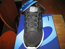 Nuevo EN CAJA Zapatos Asics Patriot 10-Tamaño de correr para mujer 6M Negro/Blanco