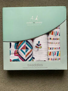 Aden and Anais Swaddle 4 Pack New In Box Cotton Muslim Blanket