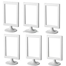 6 x IKEA TOLSBY Double Sided White Picture Frame for 2 Photos Free Standing NEW