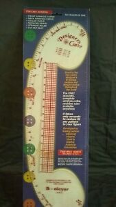 VINTAGE 1998 B. OLEYAR TAILOR RULER EASY ALTERING 6 RULERS IN ONE DESIGN TO FIT