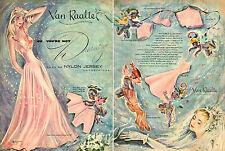 1947 lingerie AD VAN RAALTE Gowns Panties Bras Slips Great ART by Marques 050415