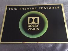 Dolby Vision Cinema Sign