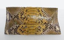 VBH MANILA Indio Green Shiny Snakeskin Envelope Clutch Handbag Bag NEW $990