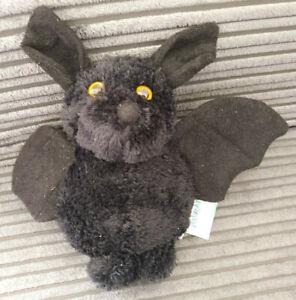 "NEW JELLYCAT PEANUT BAT BLACK HALLOWEEN DECOR TOY RARE RETIRED 6"" TALL NWT CUTE"
