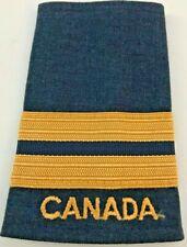 Canadian Air Force Captain Soft Shoulder Slip-on Epaulette - Gold on Blue