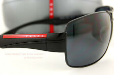 New Prada Sport Linea Rossa Sunglasses PS 53N 53NS 1BO 5Z1 BLACK Polarized Men